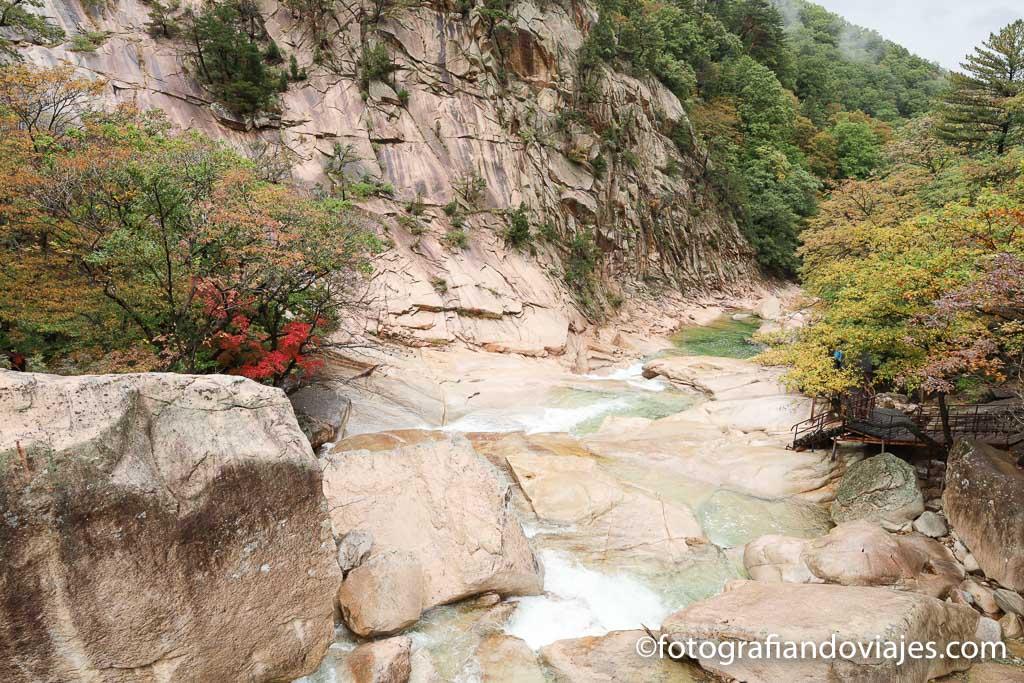 Roca Biseondae parque Seoraksan Corea