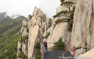 Ulsanbawi rock en el parque Seoraksan