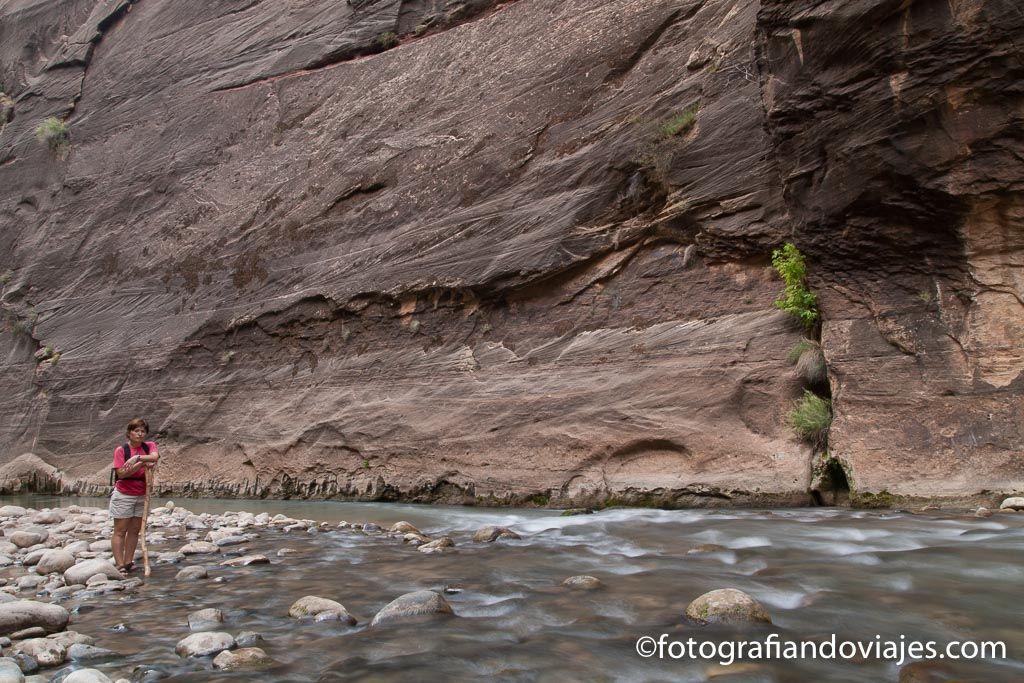 Los Narrows en parque nacional Zion Estados unidos