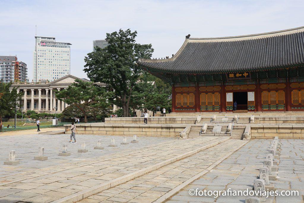 Palacio real Deoksugung en Seul