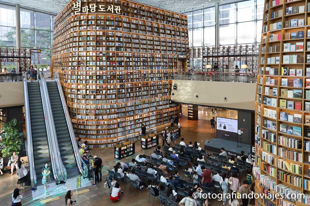 libreria del COEX mall de Seul arquitectura