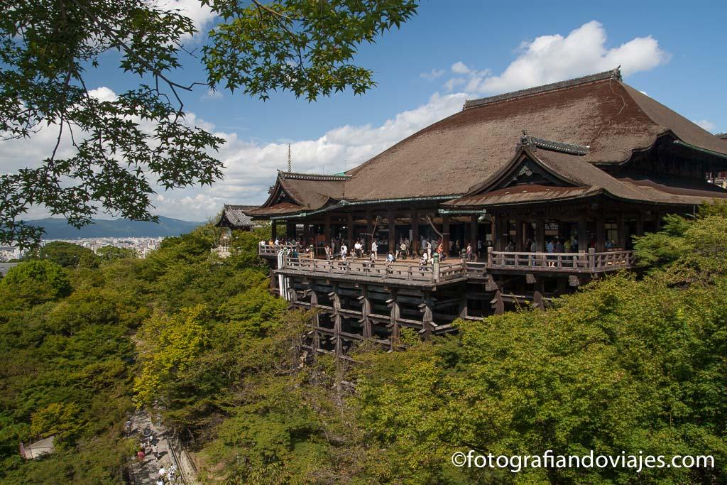 templo Kiyomizudera en Kioto