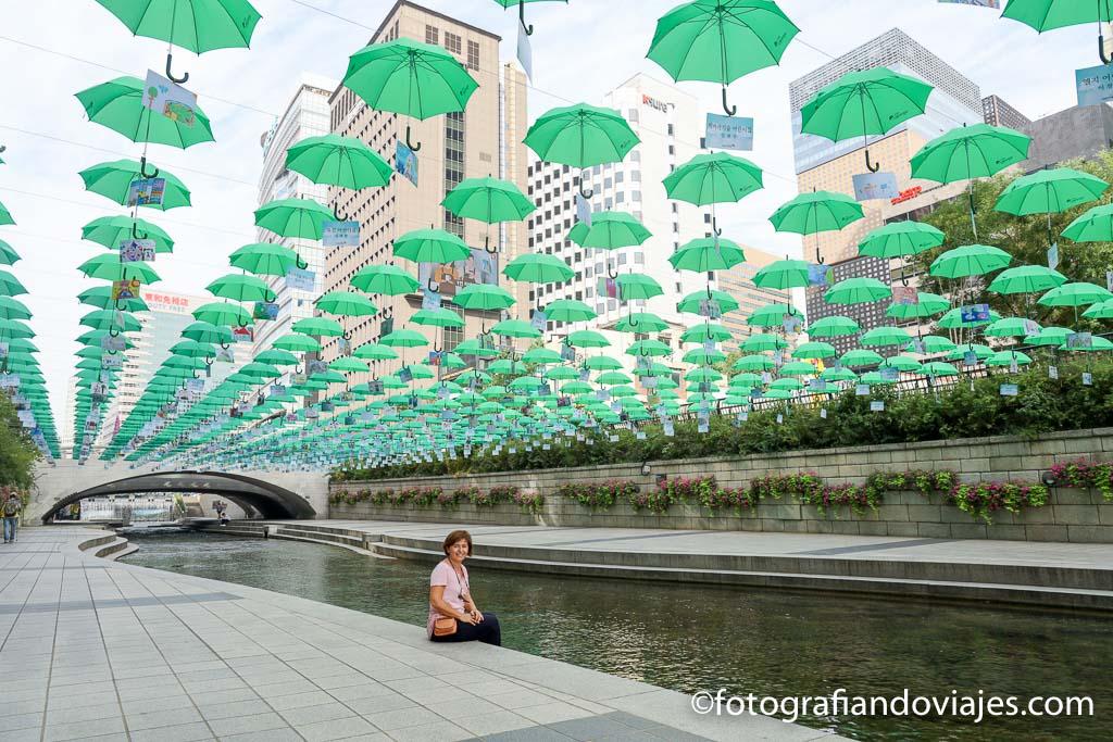 Arroyo Cheonggyecheon de Seul corea del sur