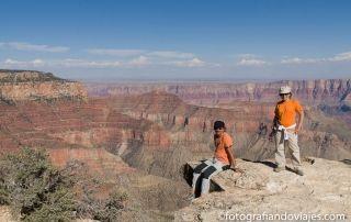 Grand Canyon del Colorado lado norte north rim