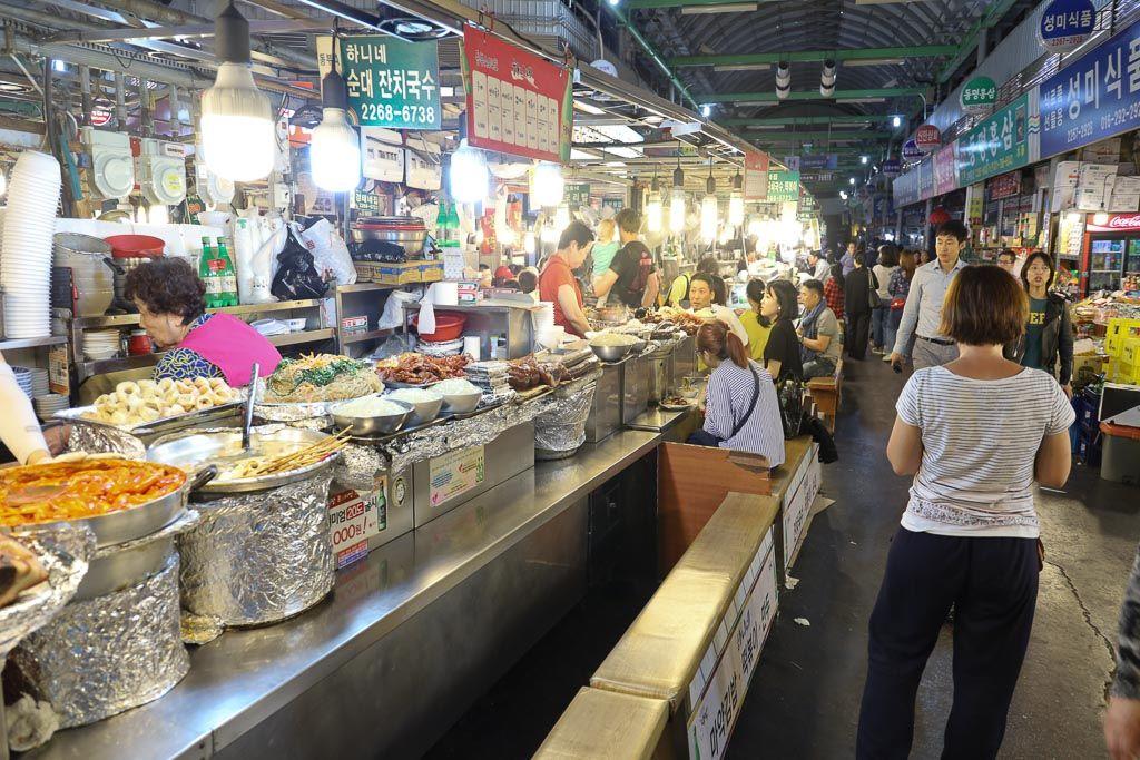Mercado Gwangjang en seul