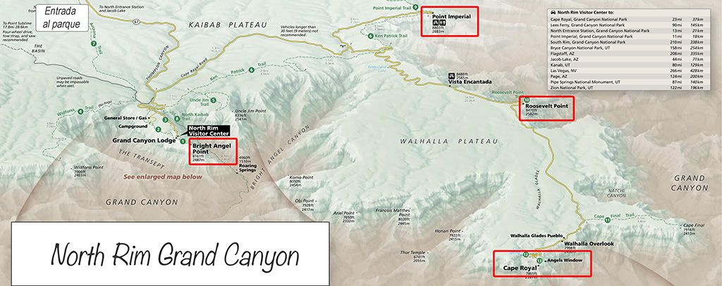 que ver y hacer en north rim grand canyon