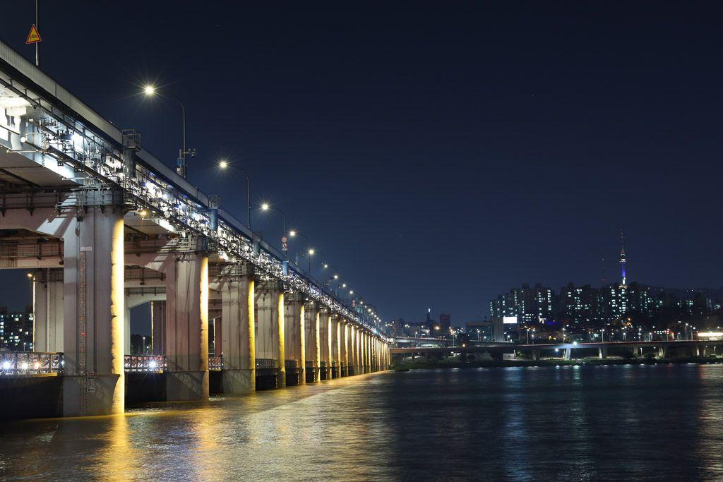 Puente y fuente Banpo que hacer en Seul