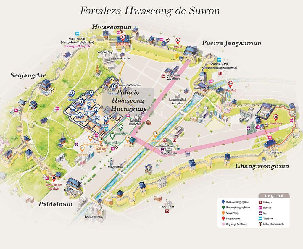 muralla fortaleza Hwaseong de Suwon