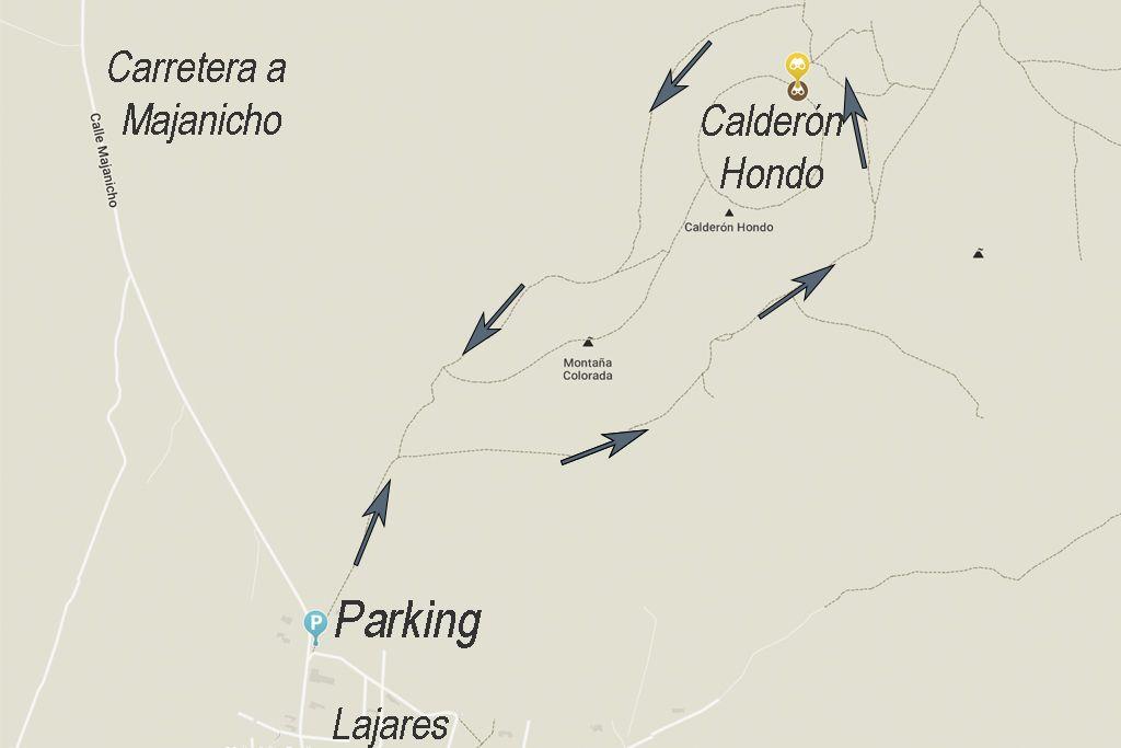 Calderon hondo fuerteventura mapa