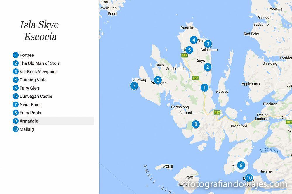 Isla Skye mapa