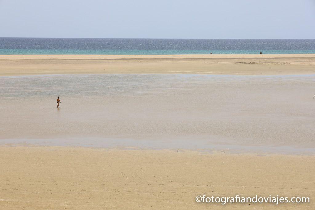 Playa Sotavento laguna Jandia Fuerteventura