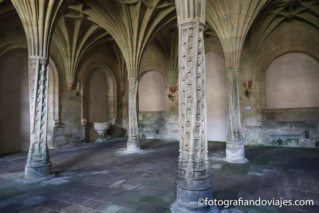 Sala capitular o de las palmeras monasterio santa maria oseira