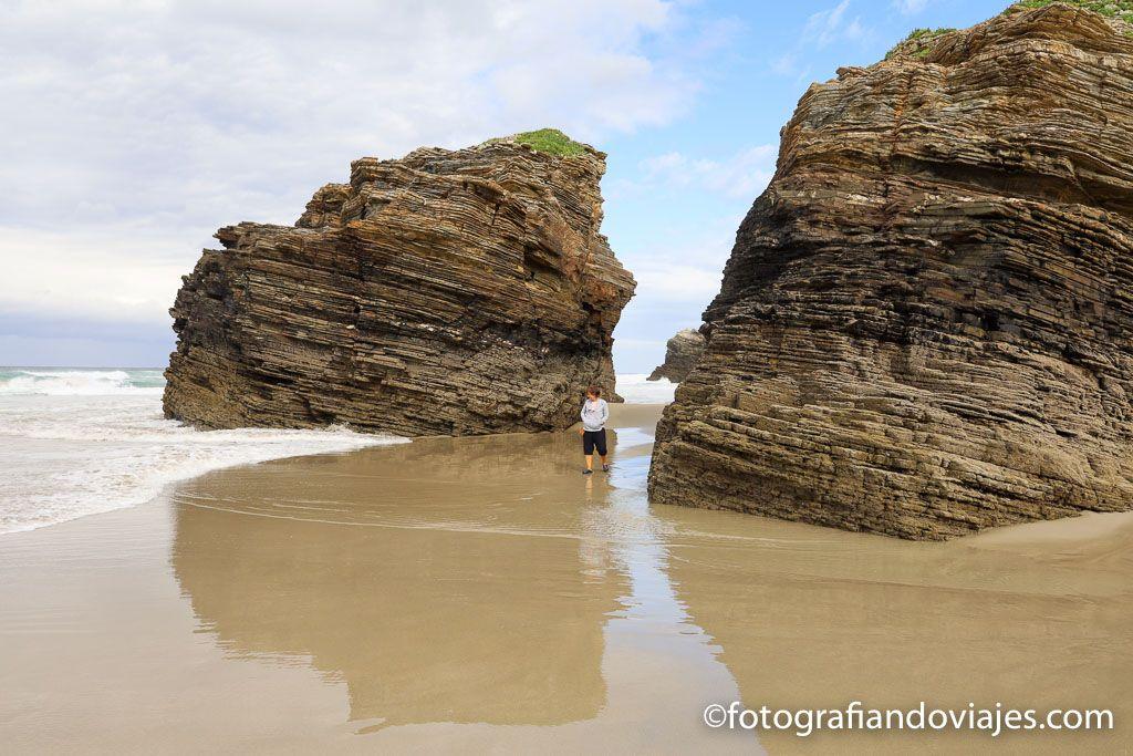 Playa das catedrales ribadeo lugo galicia