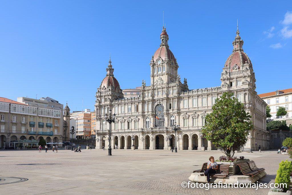 Plaza maria pita ayuntamiento a coruna