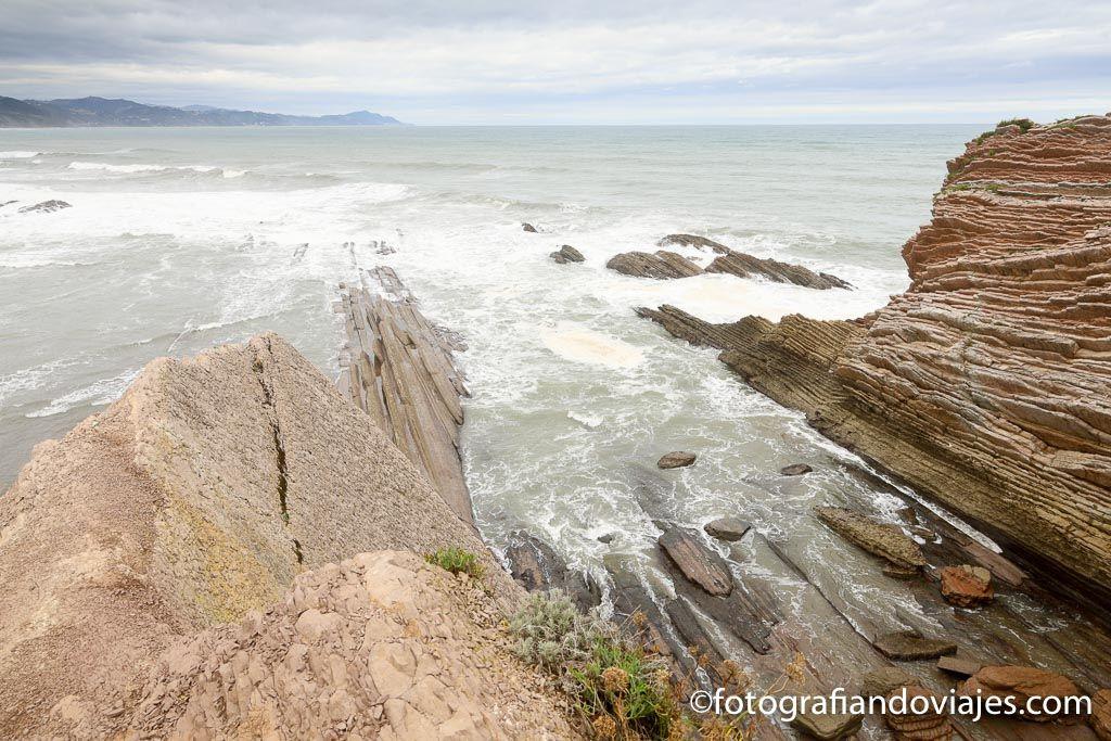 playa Algorri ver flysch geoparkea zumaia